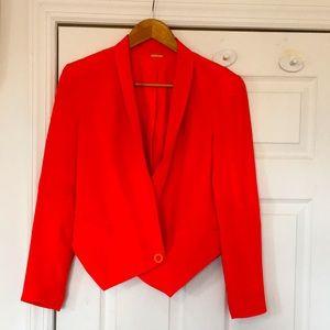 Rebecca Minkoff Orange Becky Silk Jacket Size 4